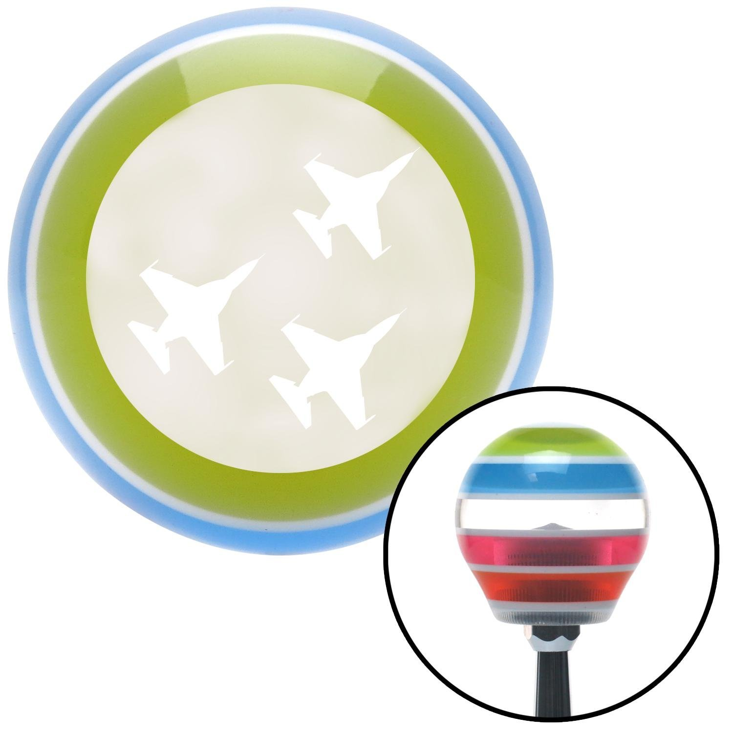 American Shifter 134781 Stripe Shift Knob with M16 x 1.5 Insert White Jets