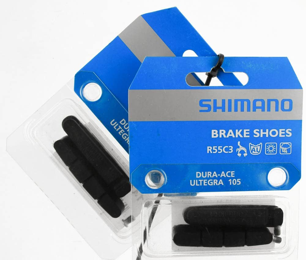 BRAKE PADS SHOES INSERTS PAIR TYPE SHIMANO SRAM ALLOY CARBON RIMS ROAD BIKE