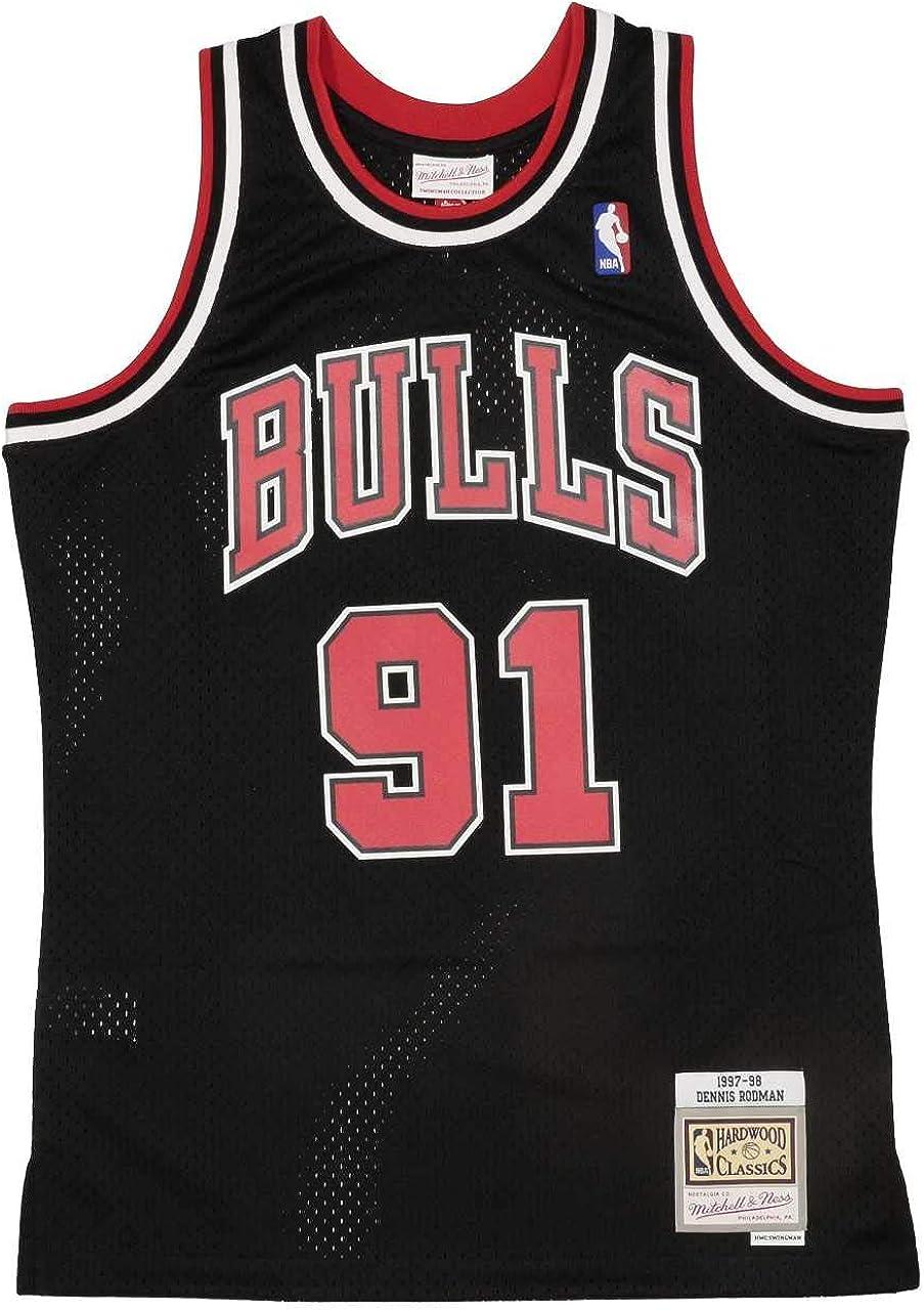 Chicago Bulls Mens Long Sleeve Hooded Trainer Dennis Rodman # 91 Zipper Pullover Basketball Training Hoodie
