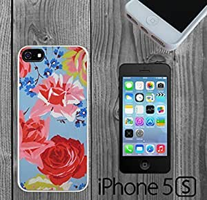 Blue Floral Painting Custom made Case/Cover/skin FOR iPhone 5/5s