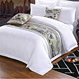 YIH Bed Scarf With Cushion cover Sets of 3, 82'' x 19'' Pet Bed Bed Runners, Pet Protector Dog Cat Covers for Bed