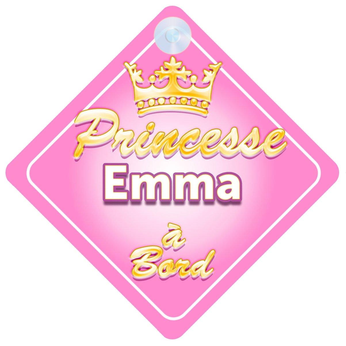 Couronne Princesse Emma Signe Pour Voiture Enfant/Bébé à Bord Quality Goods Ltd
