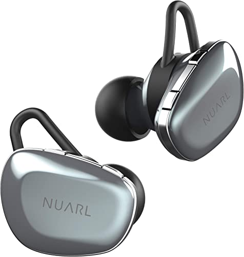 NUARL N6 TWS Wireless Stereo Earphones Earbuds Bluetooth5 11hr Playback aptX with HDSS IPX4 N6-SV Silver