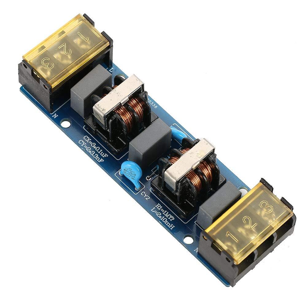 25A Modulo filtro 25A scheda filtro alimentatore EMI Scheda filtro passa-basso ad alta frequenza a due stadi per alimentatore 6A