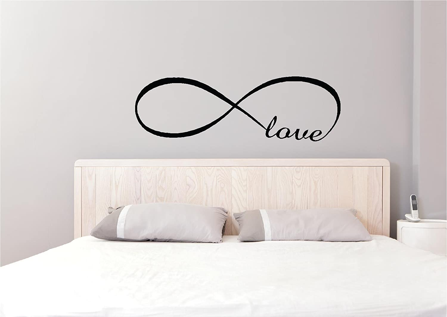 """Amazon 35""""x11"""" Infinity LOVE symbol vinyl decal quotes art sayings lettering letters home decor decorations cute Home & Kitchen"""