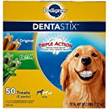Pedigree DENTASTIX Large Dental Dog Treats Original and Fresh Variety Pack, 2.69 lb. Pack (50 Treats)