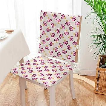 Amazon.com: Cojín para silla (juego de 2) con diseño de ...