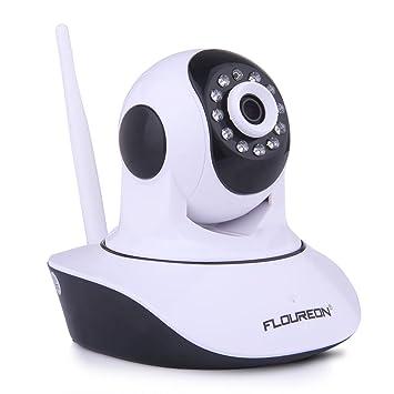 FLOUREON Cámara IP de Vigilancia inalámbrica con Infrarrojos (720P, WiFi 820.11b/g, H.264, P2P, Detección de Movimiento, Visión Nocturna), Color ...