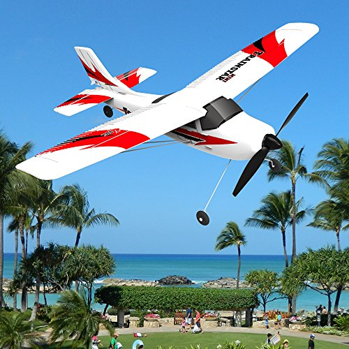 POCO DIVO Mini Trainstar RTF Super Cub 2.4Ghz RC 3CH 6-Axis Gyro Airplane EPP Beginner Glider R/C Piper J-3 Auto-Pilot Trainer Plane V761-1 ()
