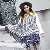 Women's Gift Scarf New Retro Style Silk Scarf Spring Summer Autumn/Winter Girls Leisure Travel Neckerchief Beach Sun Protection Anti-UV Scarf Lady Long Shawl 90 180cm (Color : 03)