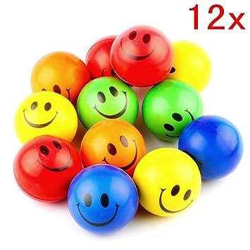 JZK 12 Suave Cara Sonriente Pelota estrés Emoji emoticonos Juguete ...