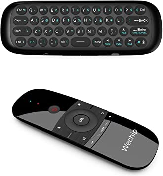 Wechip Teclado Mini Inalámbrico, Fly de ratón W1 Smart TV inalámbrico de Teclado Multifuncional Mando a Distancia para Android TV Box/PC/Smart TV/proyector/HTPC/All-in-One PC/TV: Amazon.es: Electrónica