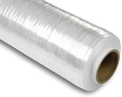 6x Rolle Stretchfolie Palettenfolie Verpackungsfolie 23 my transparent 0,03€//1m