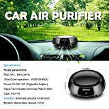 Homdox Car Air Purifier,True HEPA Travel USB Auto