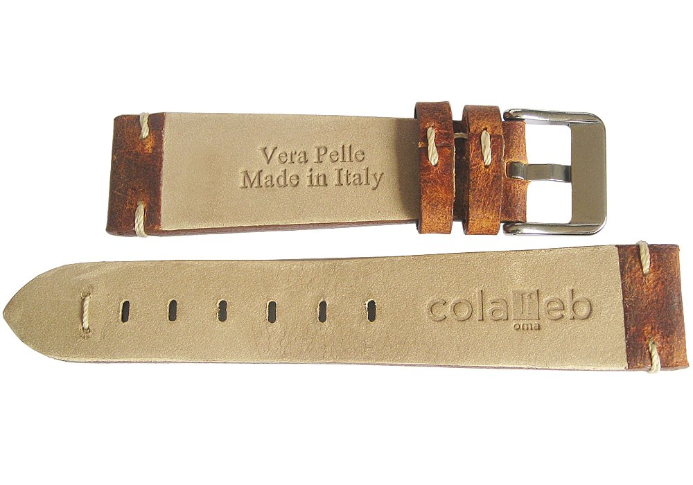 ColaReb 20mm Firenze Rust Brown Leather Watch Strap by ColaReb (Image #2)