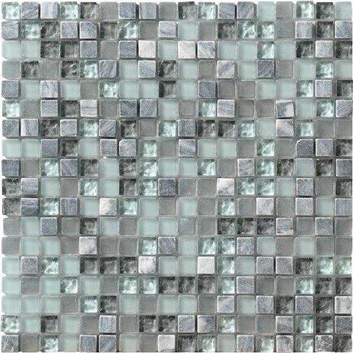 Marazzi Crystal Stone Mesh Mounted Mosaic, 12 x 12, Marine