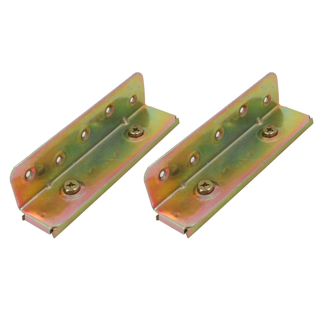 uxcell 6-inch Screw Fixed Bed Hinge Rail Brackets Connecting Fittings 2 Sets