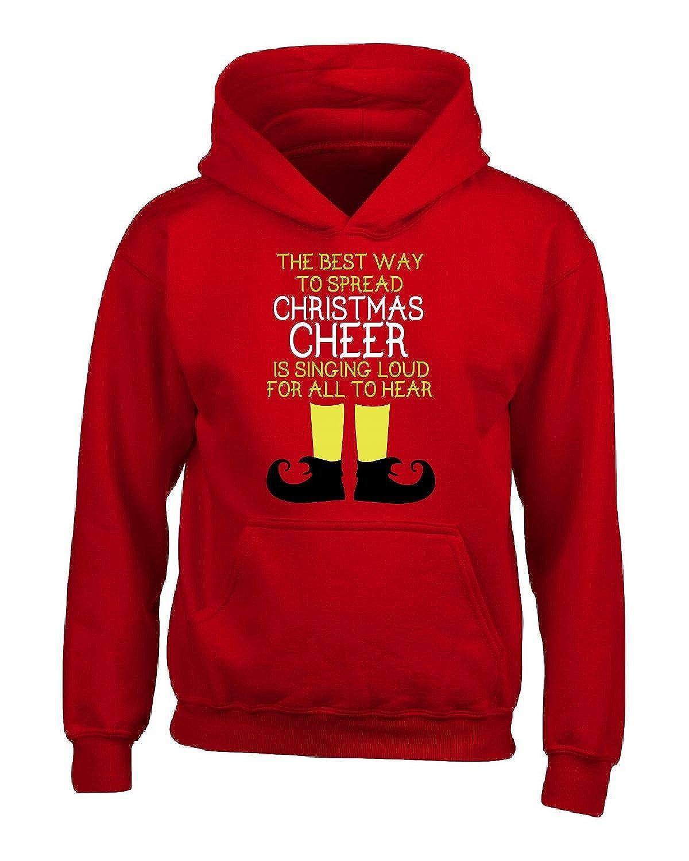 Adult Hoodie URBANTURB Christmas Cheer Singing Loud for All to Hear