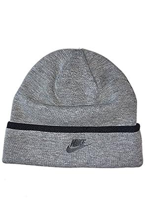 e8d54ea369c08 NIKE Swoosh Logo Toddler Boys 4 7 Roll Cuff Beanie Knit Hat (Carbon Hthr)   Amazon.co.uk  Clothing