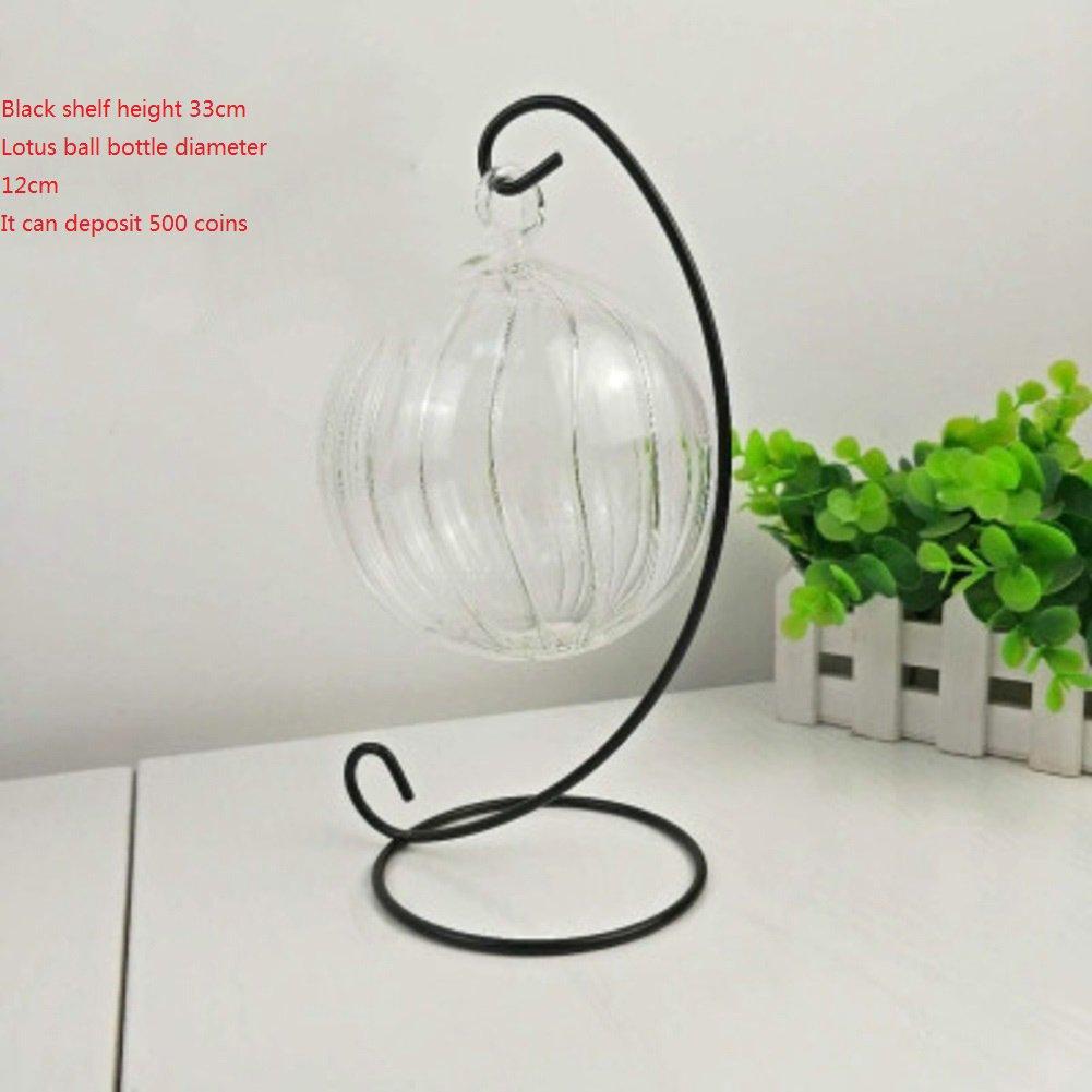 Vidrio moderno simple moneda jar personalidad transparente vidrio adornos hucha infantil creativa-P