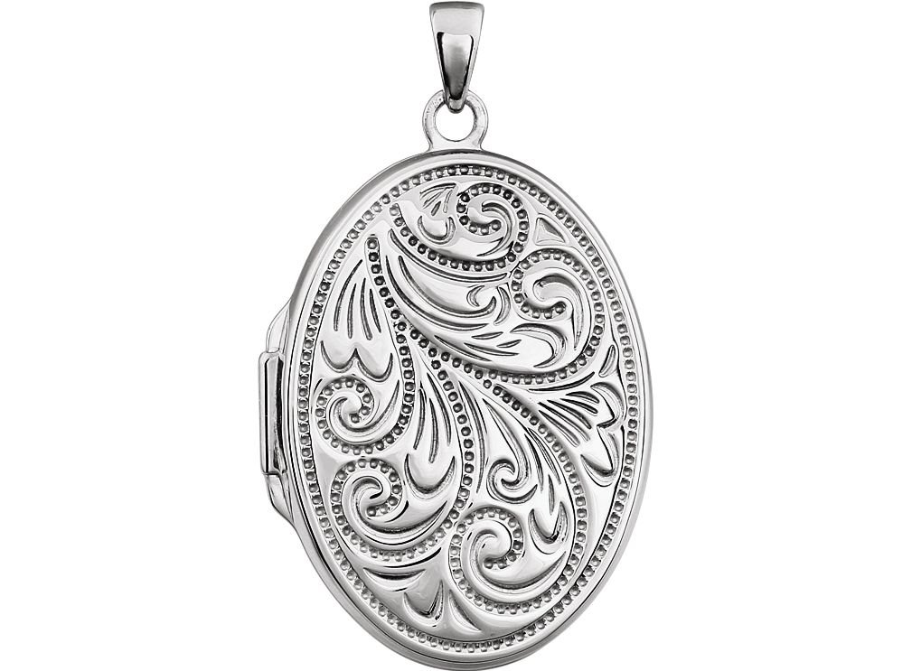 Sterling Silver Vintage Design Oval Locket by The Men's Jewelry Store (for HER)
