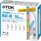 TDK Bluray Disc 25 gb BD-R 4x Index Series HD Discs 10 Pack in Jewel Cases