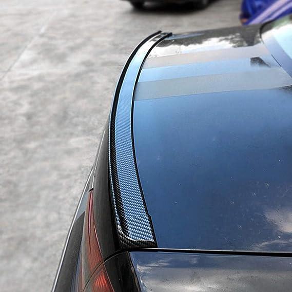 Cool Auto Universal Kofferraum Spoiler Lip Kit Auto Heckspoiler Für Außen Heckspoiler Kit Universal Passt Für Die Meisten Autos Punch Free Installation Schwarz Navigation