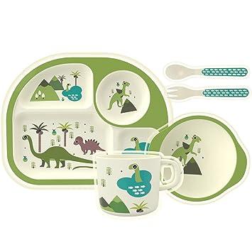 Amazoncom Homewins 5 Pieces Toddler Dish Set Childrens Tableware