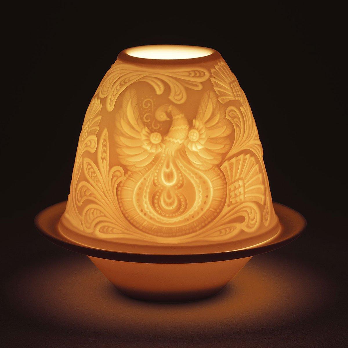 Lladro Father Frost Lithophane Votive Light