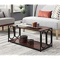 Convenience Concepts Omega Metal Coffee Table, Cherry / Black