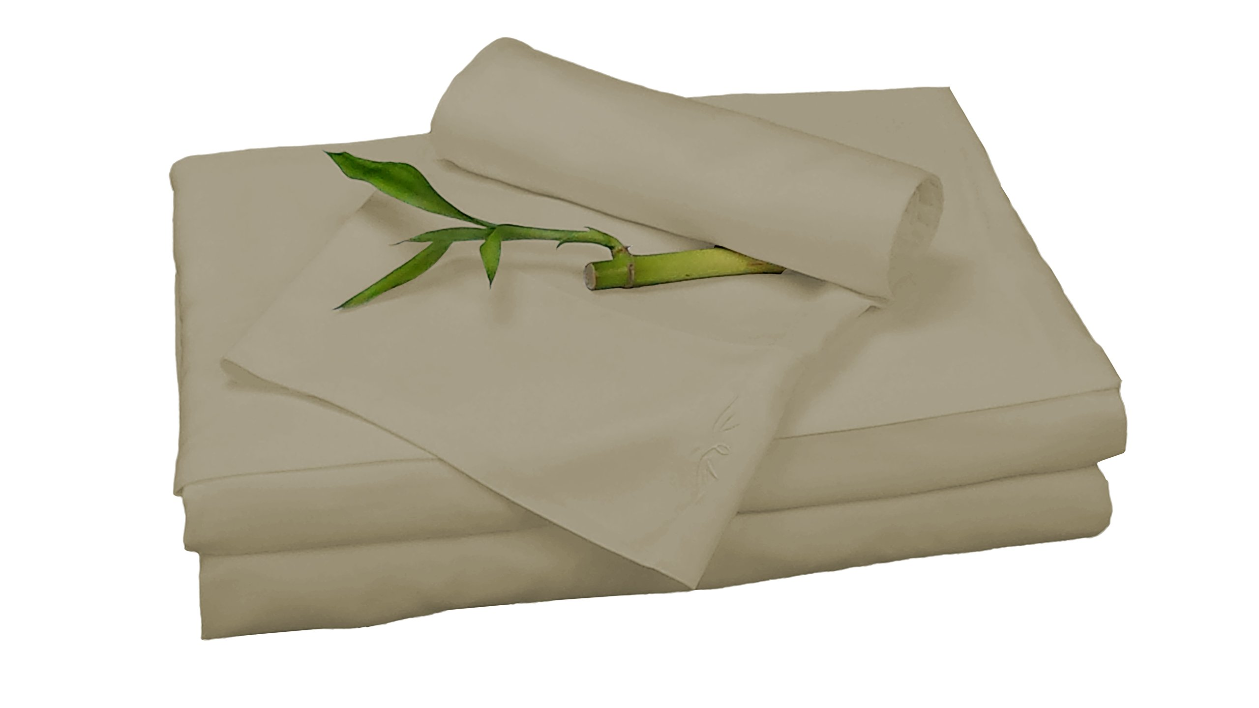 BedVoyage Bamboo Rayon Sheet Set - XL Twin - Champagne by BedVoyage