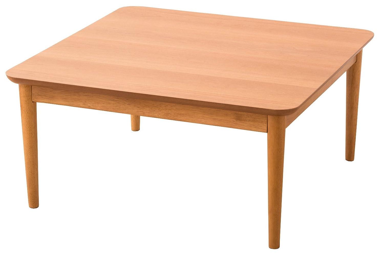 エムール こたつテーブル 【国産ヒーター付き】 正方形 75×75×36cm ローテーブル チェリー突き板 B01N3NJWHZ 正方形|チェリー チェリー 正方形