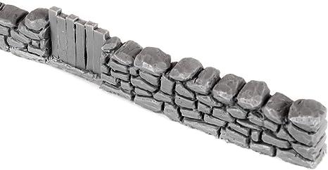 War World Gaming - Muro de Piedra Seca con Puerta Sin Pintar x 1 - Wargaming, Escenografía Miniatura, Decorado Miniatura, Paisajismo, Modelismo Wargames, Maquetas: Amazon.es: Juguetes y juegos
