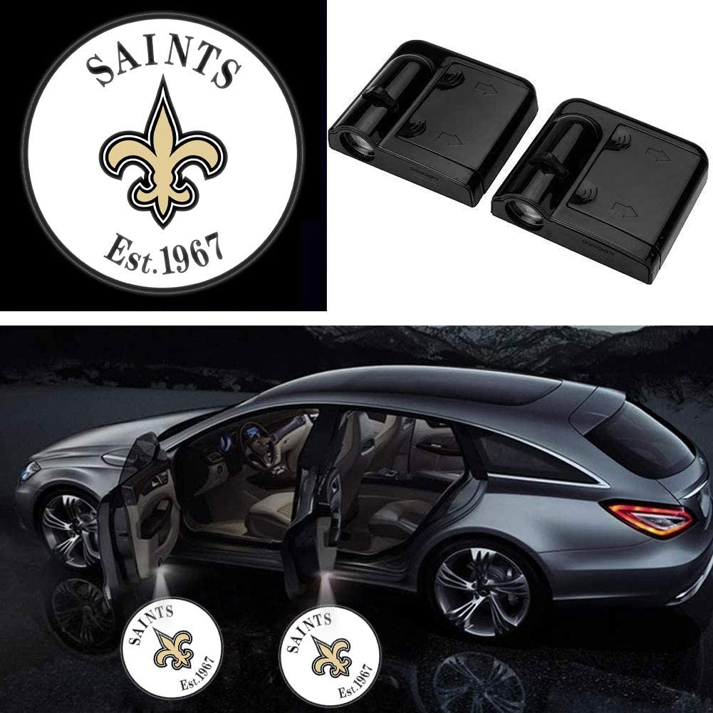 Upgraded Car Door Welcome Logo Projector Lights for Bears 1920 All Car Models fitBears Universal Wireless Car Door Led Projector Lights 2Pcs for Chicago Bears Car Door Lights Logo Projector