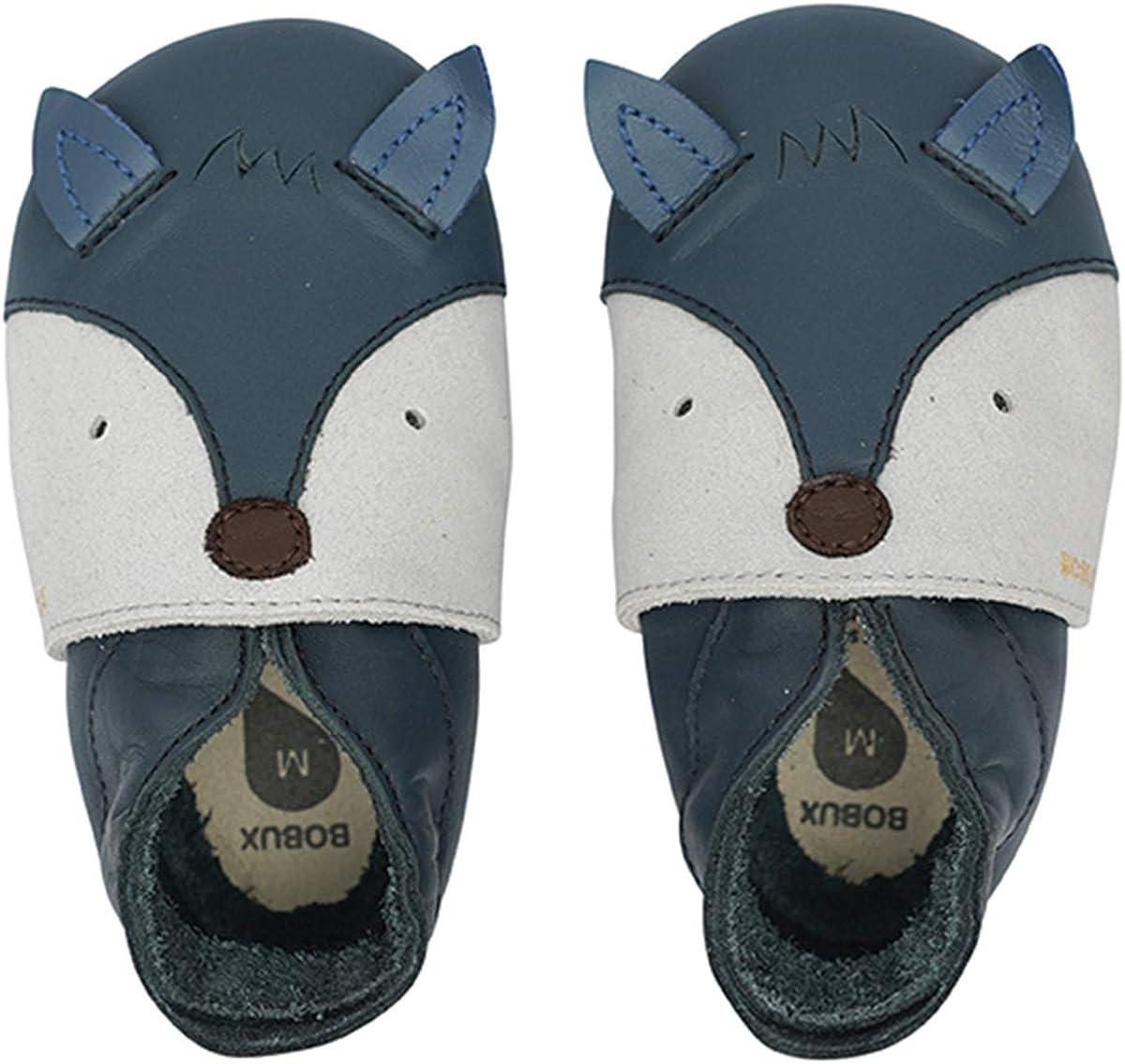 Chaussures Bebe Foxy Navy Pantoufle Bebe Bobux Chausson Cuir Souple B/éb/é