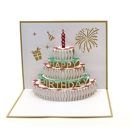 Amazon Dreamlevel Pop Up Birthday Card 3d Happy Birthday Cake