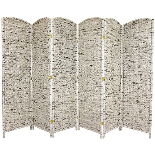 Oriental Furniture 6-Feet Tall Recycled Newspaper Room Divider, 6 Panels by ORIENTAL FURNITURE
