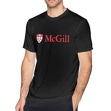 9f09dc4e1487 Men's Casual McGill University Apparel Tee T Shirt Short Sleeve O ...