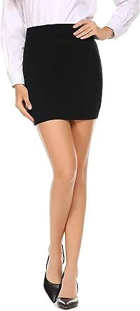 Zeagoo Women's Classic High Waisted Mini Skirt Stretch Pencil Skirt