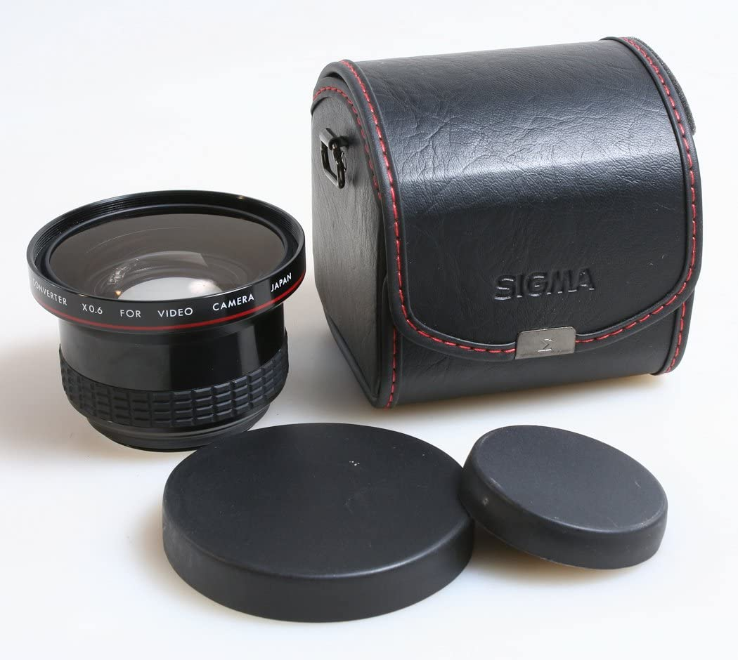 Front /& Rear CAPS SIGMA WIDE CONVERTER X0.6 Camera Lens with CASE