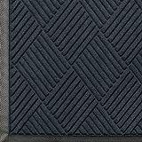 Andersen 208 WaterHog Classic Diamond Polypropylene Fiber Entrance Indoor/Outdoor Floor Mat, SBR Rubber Backing, 8.4' Length x 6' Width, 3/8'' Thick, Charcoal
