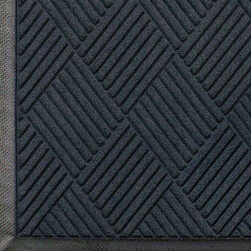 WaterHog Diamond-Pattern Commercial Grade Entrance Mat, Indoor/Outdoor Floor Mat 8.4' Length x 3' Width, Charcoal by M+A Matting