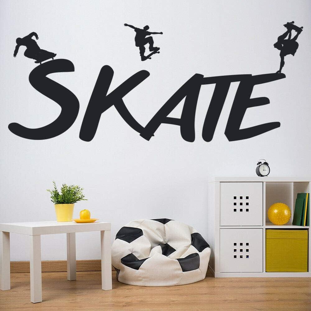 Tianpengyuanshuai Skateboard Board Vinyl Wall Sticker Decoration Gym Home Interior Design Art 34x85cm Amazon Co Uk Kitchen Home