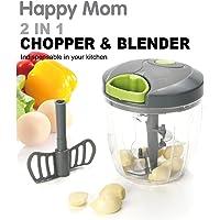 Happy Mom 2 In 1 Chopper & Blender, HAM.HMA370_Multi-Colour