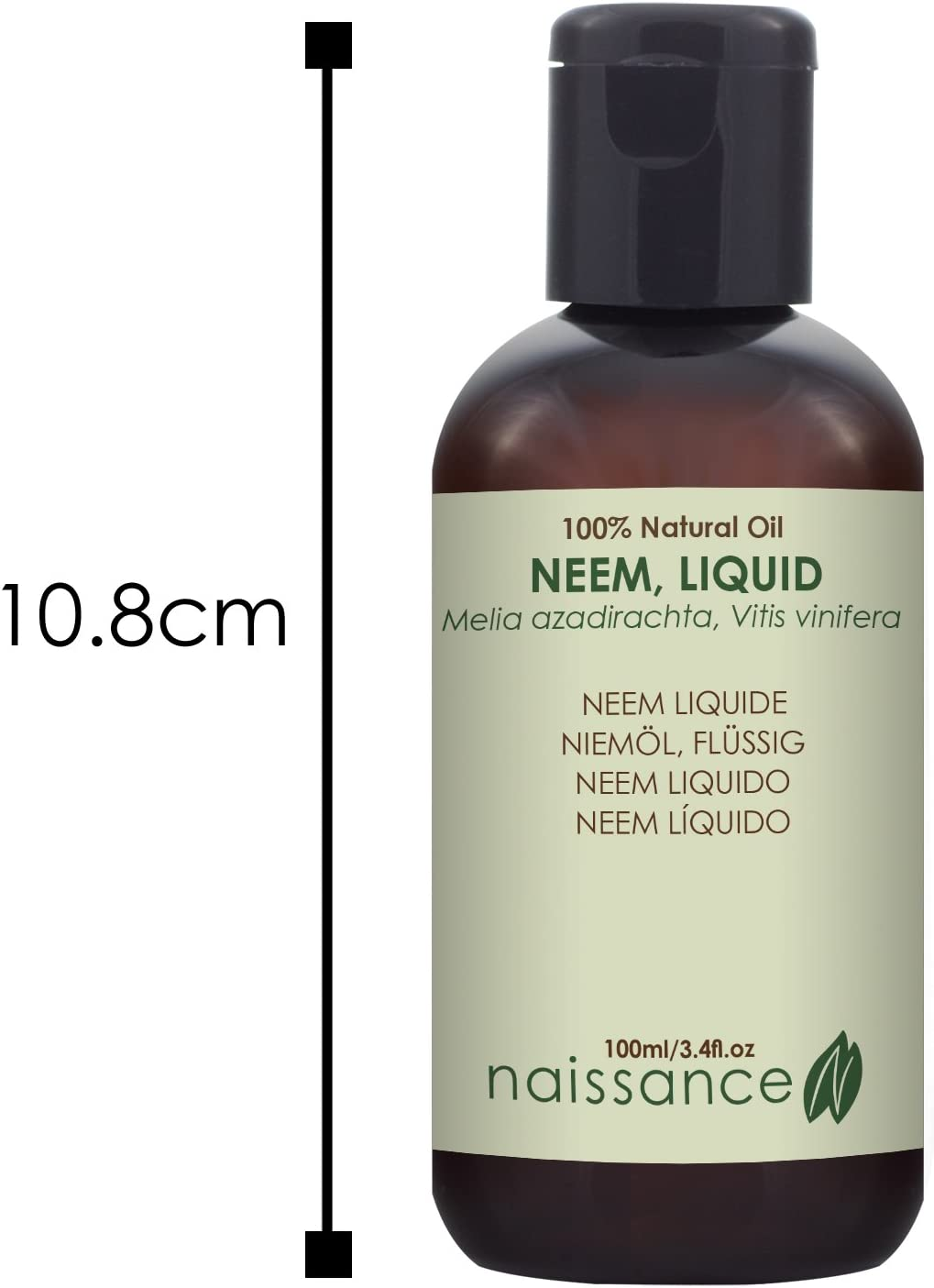 Naissance Neem Líquido - Aceite Vegetal Prensado en Frío 100% Puro - 100ml