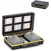 JJC BC-3SD6 Camera Battery Case Organizer Holder Fits for Canon LP-E6 LP-E8 LP-E12 LP-E17 NB-13L Nikon EN-EL15 EN-EL14 Fujifilm NP-W126 NP-W126S NP-95 Sony NP-FZ100 NP-FW50 NP-BX1 Olympus BLS-5 BLN-1