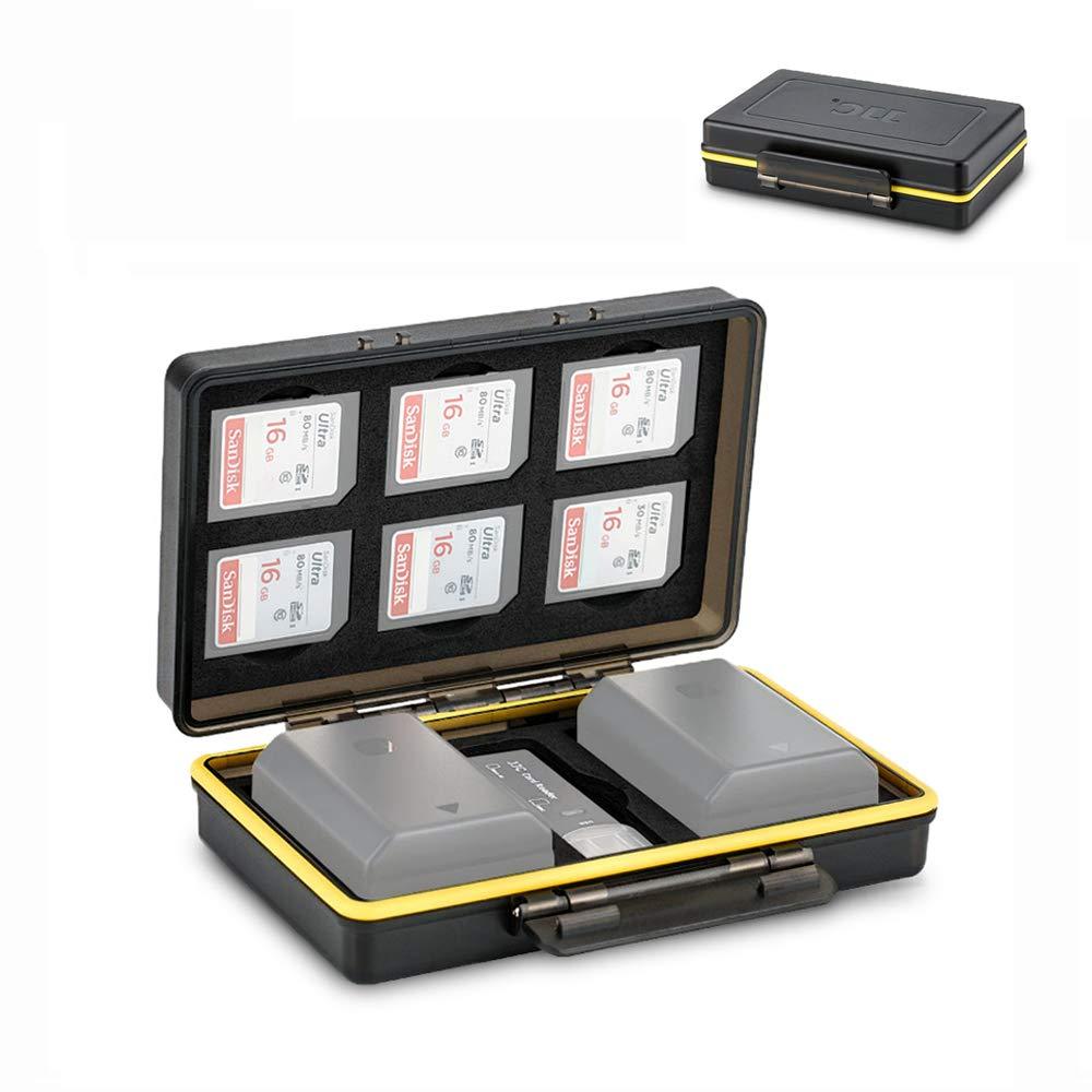 JJC カメラバッテリーケースオーガナイザーホルダー Canon LP-E6 LP-E8 LP-E12 LP-E17 NB-13L Nikon EN-EL15 EN-EL14 Fujifilm NP-W126 NP-W126S NP-95 Sony NP-FZ100 NP-FW50 NP-BX1 Olympus BLS-5 BLN-1用 B07L8RN46K