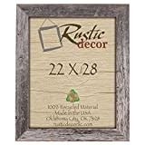 22×28 – 3.5″ Extra Wide Reclaimed Rustic Barnwood Wall Frame Review