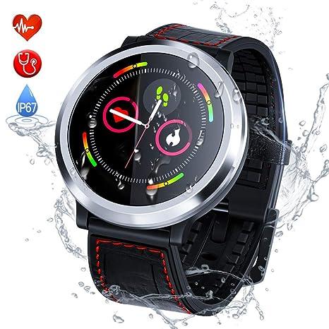Smart Watch Pulsera Actividad Inteligente con Pulsómetro Podómetro Pulsera Deportiva Impermeable IP67 Monitor de Ritmo Cardíaco Reloj Fitness ...