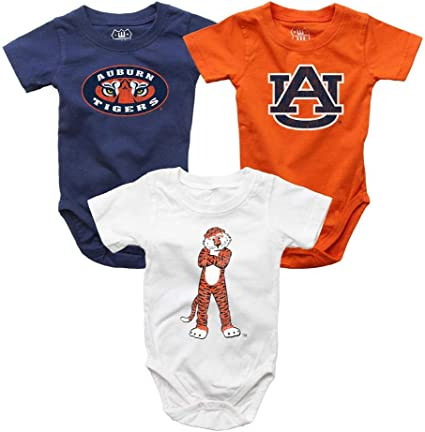 Wes and Willy Auburn All Over Print Baby Blanket Tigers Logo